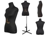 """Портновский женский манекен Royal Dress forms CHRISTINA, с подставкой """"звезда"""", р-р 44 (черный, бежевый)."""